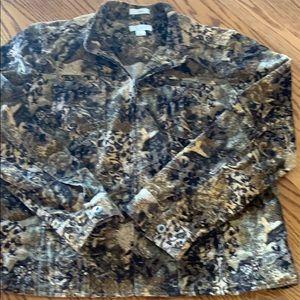 Christopher & Banks corduroy print jacket
